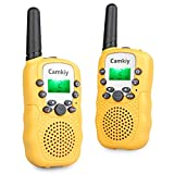 Kids Walkie Talkies Long Range 446MHz Walky Talky Birthday Present Toys for Boys Girls Age 4-11 Year Old Yellow