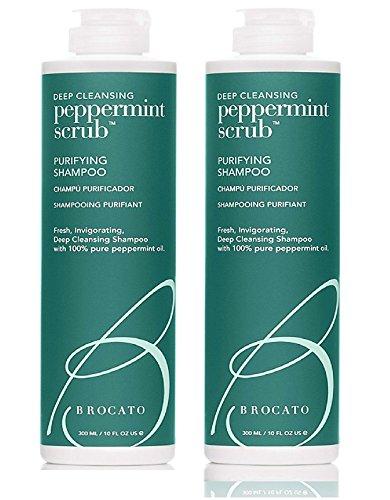 Chamomile Mint Scrub - Brocato Peppermint Scrub Purifying Shampoo 10 oz. (Set of 2)