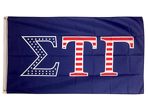 Sigma Tau Gamma USA Letter Fraternity Flag Greek Letter Use as a Banner Large 3 x 5 Feet Sign Decor sig Tau