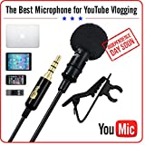 YouMic Lapel Microphone is Tiny, User-friendly and Effective for Public Speeches, Interviews, YouTube Videos, Newscasters, Product Reviews and other Professional Sound Records Handy & Powerful YouMic Lavalier Microphone Making videos with innovat...
