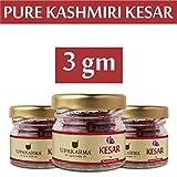 Purest & Finest Kashmiri Saffron/Kesar - 1 gm (Certified Grade - I, Premium A++, Inspired from Spanish Saffron) (1) (3 Gram 0.10 oz)