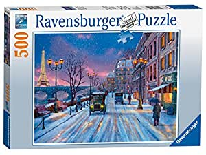 Ravensburger Winter in Paris Puzzle 500pc,Adult Puzzles