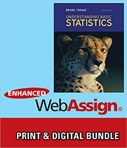 Amazon bundle understanding basic statistics 6th bundle understanding basic statistics 6th webassign printed access card for brasebrases understanding basic statistics 6th edition single term fandeluxe Gallery