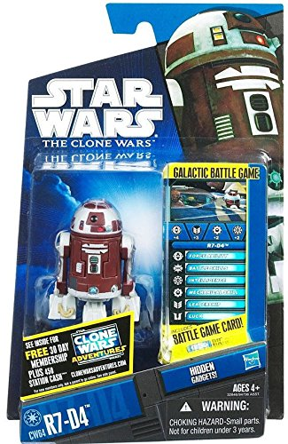 Star Wars 2011 Clone Wars Animated Action Figure CW No. 64 R7D4 Plo Koons Astromech ()