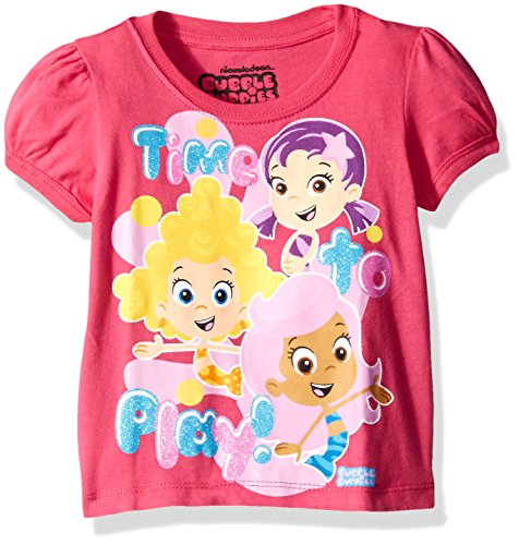Nickelodeon Baby Girls' Bubble Guppies Time to Play Puff Slv T-Shirt, Pink, (Bubble Puff)