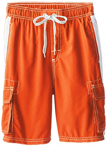 Boys Suit Bathing - Kanu Surf Big Boys' Barracuda Quick Dry Beach Swim Trunk, Orange, Medium (10/12)