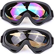 Ski Goggles Outdoor Sports Unisex Glasses Sand-proof Impact Resistant Lens,Wind Protection, Anti- UV, Anti-dus