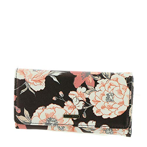 (Roxy MY MY Long Eyes Wallet, anthracite s new flowers)