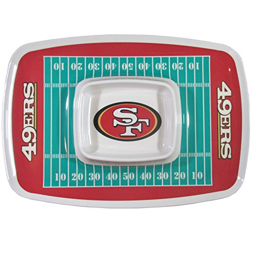 NFL San Francisco 49ers Melamine Chip and Dip Tray