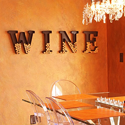Wall Mounted Wine Cork Holder | Metal Monogram