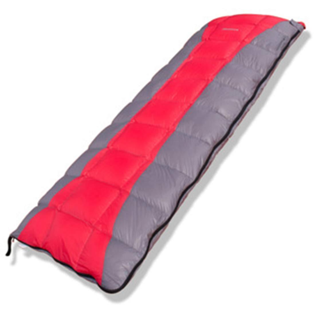 AREDOVL Saco de Dormir del Sobre para Acampar, Impermeable liviano y portátil para el Invierno Aire Libre para Acampar Mochila Viajes Senderismo (Color : Red)