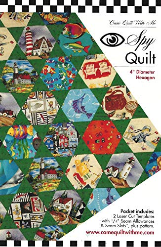RU279 I Spy 4 Inch Diameter Quilt Template Set By Come Quilt With Me