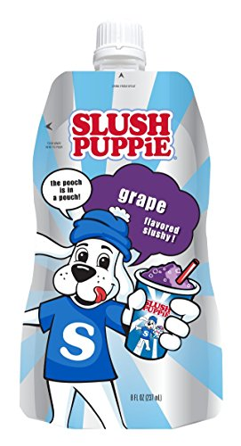 Slush Puppie Pouches--Grape Flavor--Fruit Flavored Ice Slushie Flavor Pops Delicious Frozen Treat Pouch--8 fl. oz. 24 - Pops Grape Ice