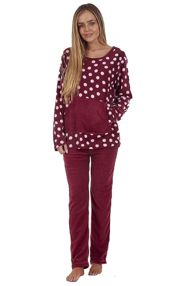 b51dc28a94 Ladies Stunning Printed Fleece Pyjama Set Womens PJ s Winter Warm Nightwear  Anna Klein