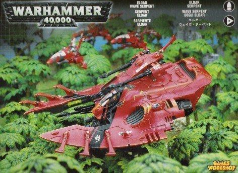 (Eldar Wave Serpent APC Grav Tank Warhammer)