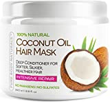 Coconut Oil for Natural Hair Pure Body Naturals Coconut Oil Hair Mask, 8.8 oz
