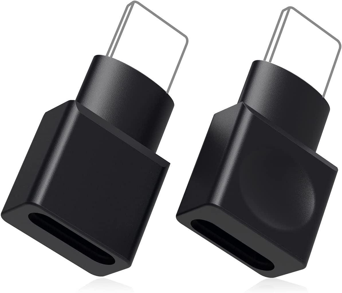 CHANG XU 2PCS Docking Extender Connector Adapter Seats Female to Male. Transfer Video, Audio, Picture, Photo, Music, Data and Power Charger Adapter. (Black)
