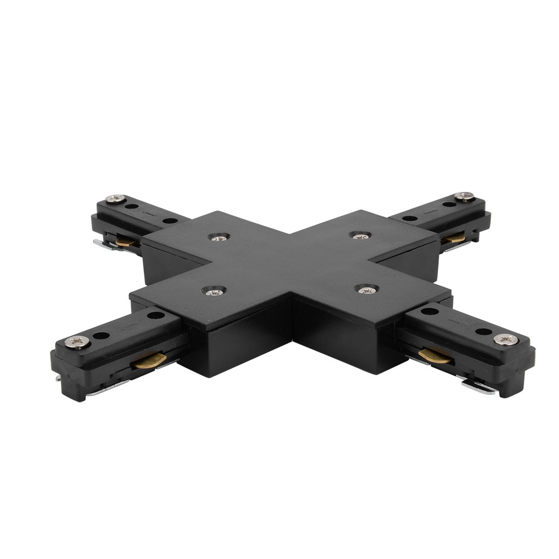 uxcell 4-Way X Connector for 3-Wire Lighting Track Rail, Black by uxcell (Image #2)