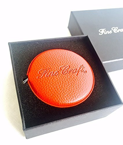 Fabric Tape Measure Retractable Leather Red Luxurious in a Gift Box Measuring Tool Starts from