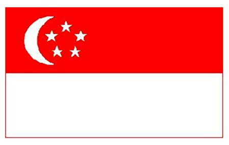 Singapore National Flag 5ft x 3ft: Amazon.co.uk: Kitchen & Home