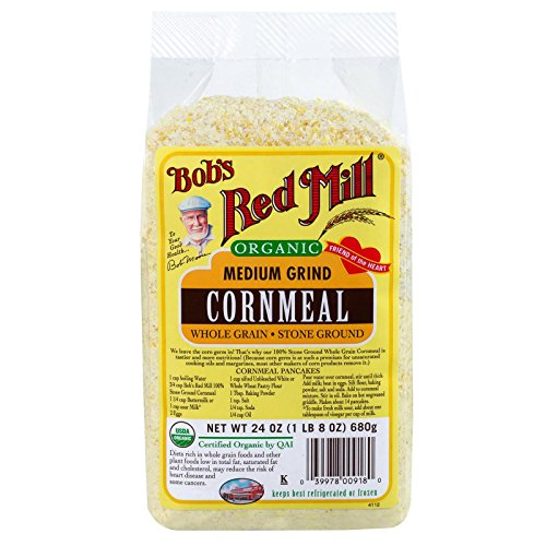 Bob's Red Mill Organic Cornmeal Medium, 24 oz, 2 pk by Bob's Red Mill