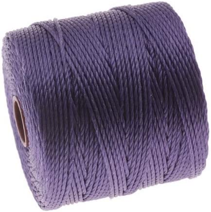 Purple Beadsmith Twisted Nylon Super-Lon Cord 77 yd