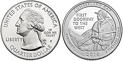 2016 S America the Beautiful Cumberland Gap National Historical Park Quarter Proof
