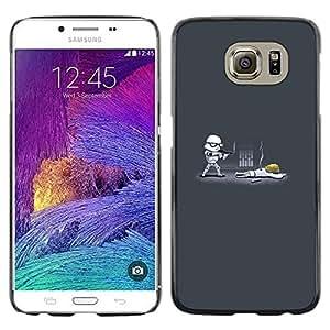 // PHONE CASE GIFT // Duro Estuche protector PC Cáscara Plástico Carcasa Funda Hard Protective Case for Samsung Galaxy S6 / Tormenta divertido Tropa /
