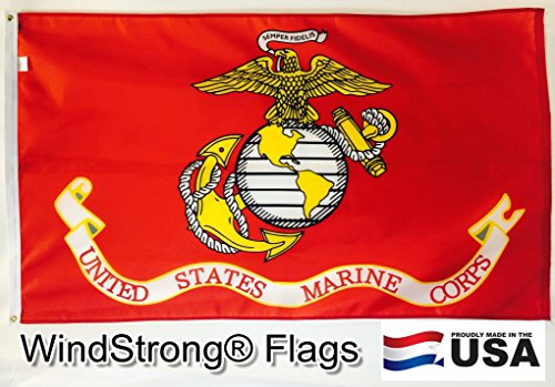3x5 FT USMC Marine Corps Commercial Grade Windstrong® 2 Ply