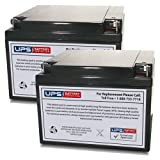 (2) 12V 26Ah NB - UPSBatteryCenter Replacement battery set for Shoprider Mobility Streamer Sport (888WA)