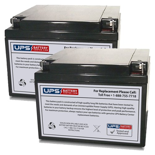 (2) 12V 26Ah NB - UPSBatteryCenter Replacement battery set for Shoprider Mobility Streamer Sport (888WA) by UPS Battery Center (Image #1)