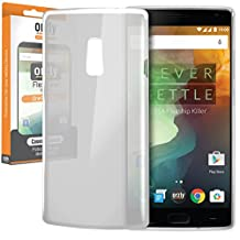 Orzly® - FlexiCase for OnePlus 2 - Protective Flexible Soft Gel Case for use with the ONE PLUS TWO SmartPhone (2015 Model / Dual SIM Version) - Silicon Phone Cover Skin in Semi-Transparent WHITE
