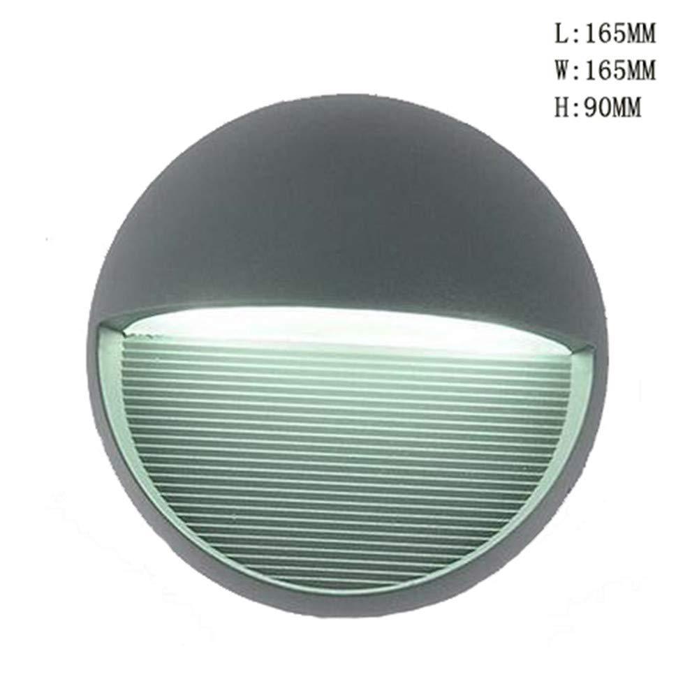MEIYANG LED-Außenwandleuchte, wasserdichtes 10W-Aluminium-Sicherheitslicht, Balkontreppe, Gartenlichter, 6000K kaltweißes Licht Licht Licht ddb519