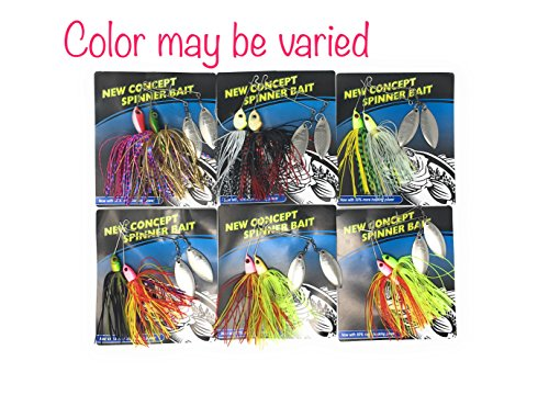 Best Hard Baits Spinnerbait Kit for Bass fishing (Kit #3, Spinnerbait Kit A) (Bass Bait Smallmouth)
