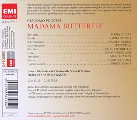 Callas, Gedda, Borriello, Danieli, Puccini, Von Karajan - Puccini ...