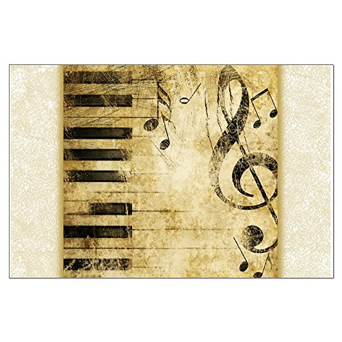Large Poster Musician Piano Keys Music Notes
