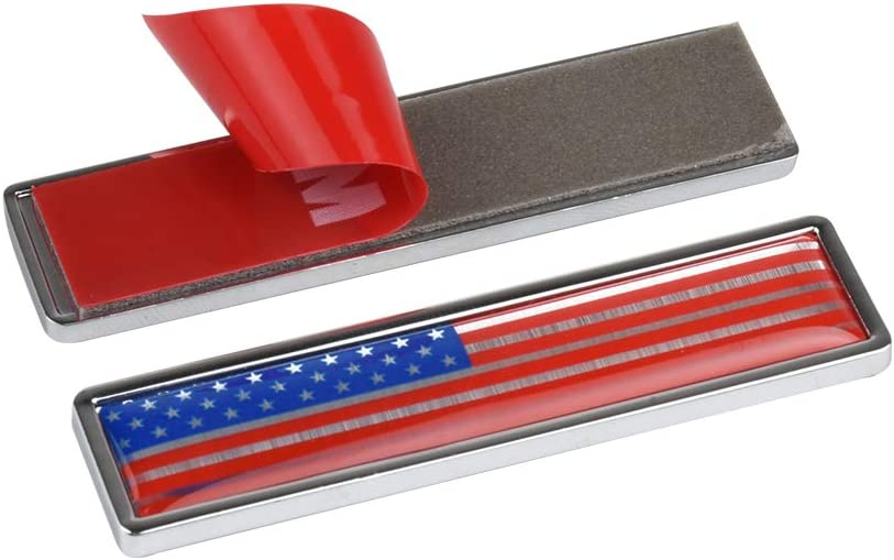 Truck Motorcycle 5 Pack US American Metal Flag Decal 3D Sticker Emblem Made from Alloy Aluminum American Flag Stickers USA Patriotic Stickers for Vehicle A or SUV Scooter car RV