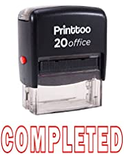 Printtoo Self Inking Rubber Stamp COMPLETED Office Stationary Custom Stamp- Ink Color Available