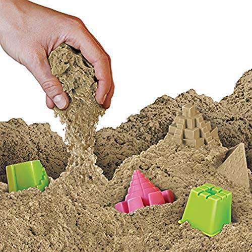 NATIONAL GEOGRAPHIC Play Sand - 12 Lbs of Sand with Castle Molds (Natural) - A Kinetic Sensory Activity