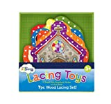 7-PC Wood Lacing Toy, Baby & Kids Zone