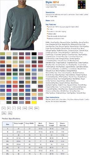 Comfort Colours Heren Ringpun Kleding Geverfd Lange Mouwen T-shirt (c6014) Grijs