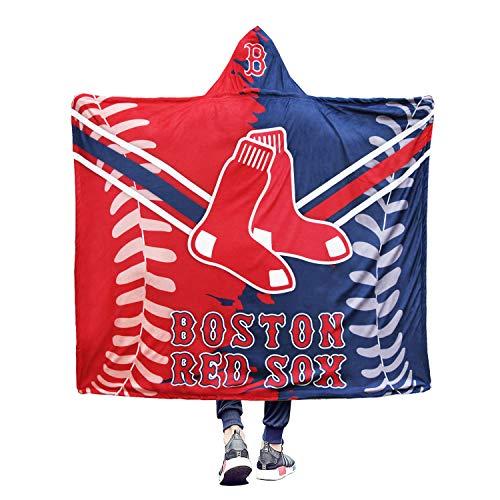 Nine Culture MLB Winter Hooded Blanket Throw Air Blanket Sports Style 3D Printing Soft Warm Fleece Cape Cloak Sherpa 50