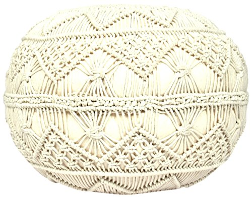 Madhu's COLLECTION Unique Pouf Decorative, Large, Natural by Madhu's COLLECTION
