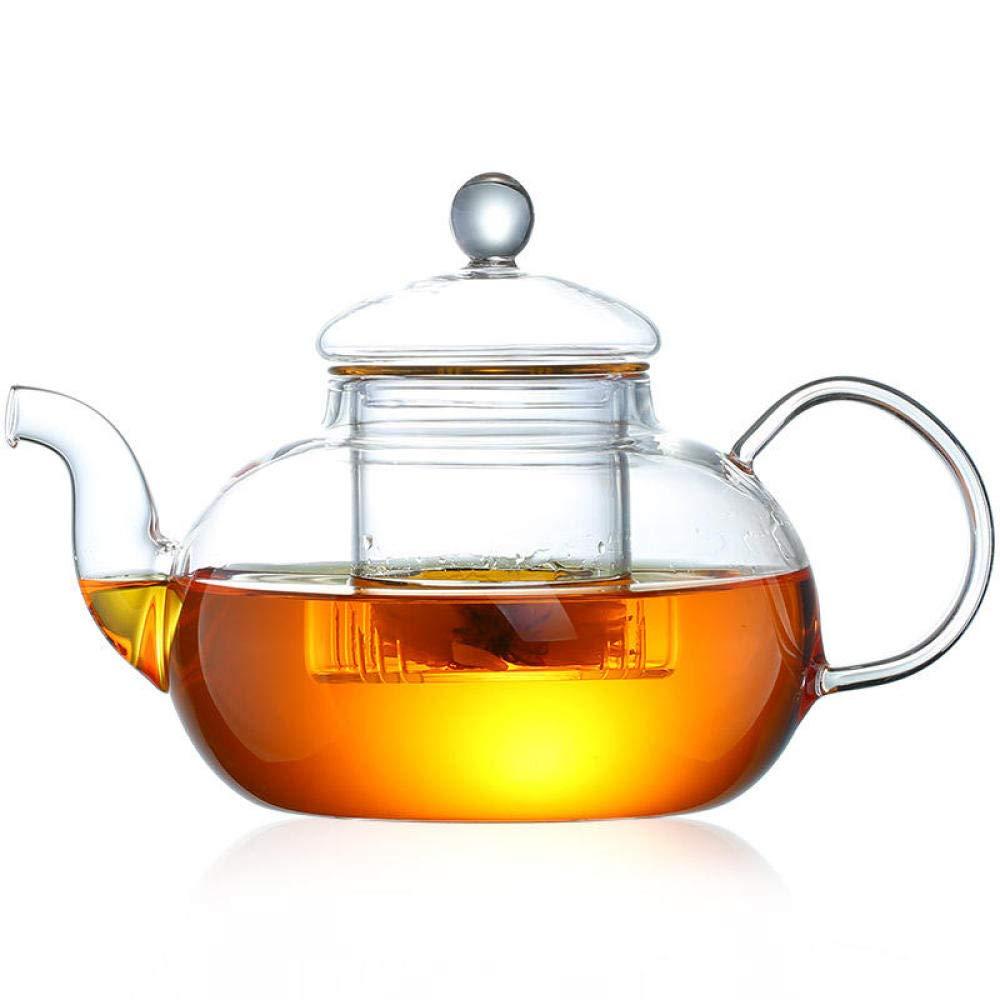 POTOLL Teiera con Filtro Teiera da tè in Vetro Resistente al Calore ad Alta Temperatura per la casa teiera da tè a 400 ml Prezzi