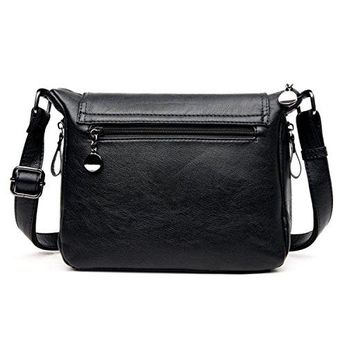 Main Dames Cuir Les En Sacs Pour À Black Femmes Pu Body Bandoulière Messenger Cross Bag Sac OtAz7wtq