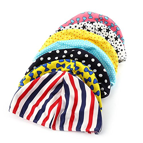Ziaxa(TM) Fashion Toddler Girls Floral Waterproof Spandex Stretch Swimming Cap Bathing ()