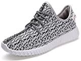 YJN Women's Lace Up Lightweight Fashion Sneakers Athletic Running Shoes Grey 7 D(M) US