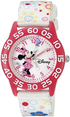Disney Infinity Kids' W002462 Minnie Mouse Analog Display Analog Quartz White Watch