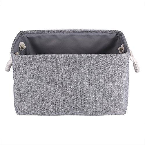 Plegable cajas de almacenamiento tela paño toalla de cestas de almacenamiento Caja Contenedor organizadores de lavandería...