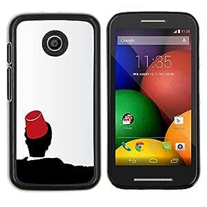 """Be-Star Único Patrón Plástico Duro Fundas Cover Cubre Hard Case Cover Para Motorola Moto E / XT1021 / XT1022 ( Marruecos Fez Marrakech Sombrero Tarboosh"""" )"""